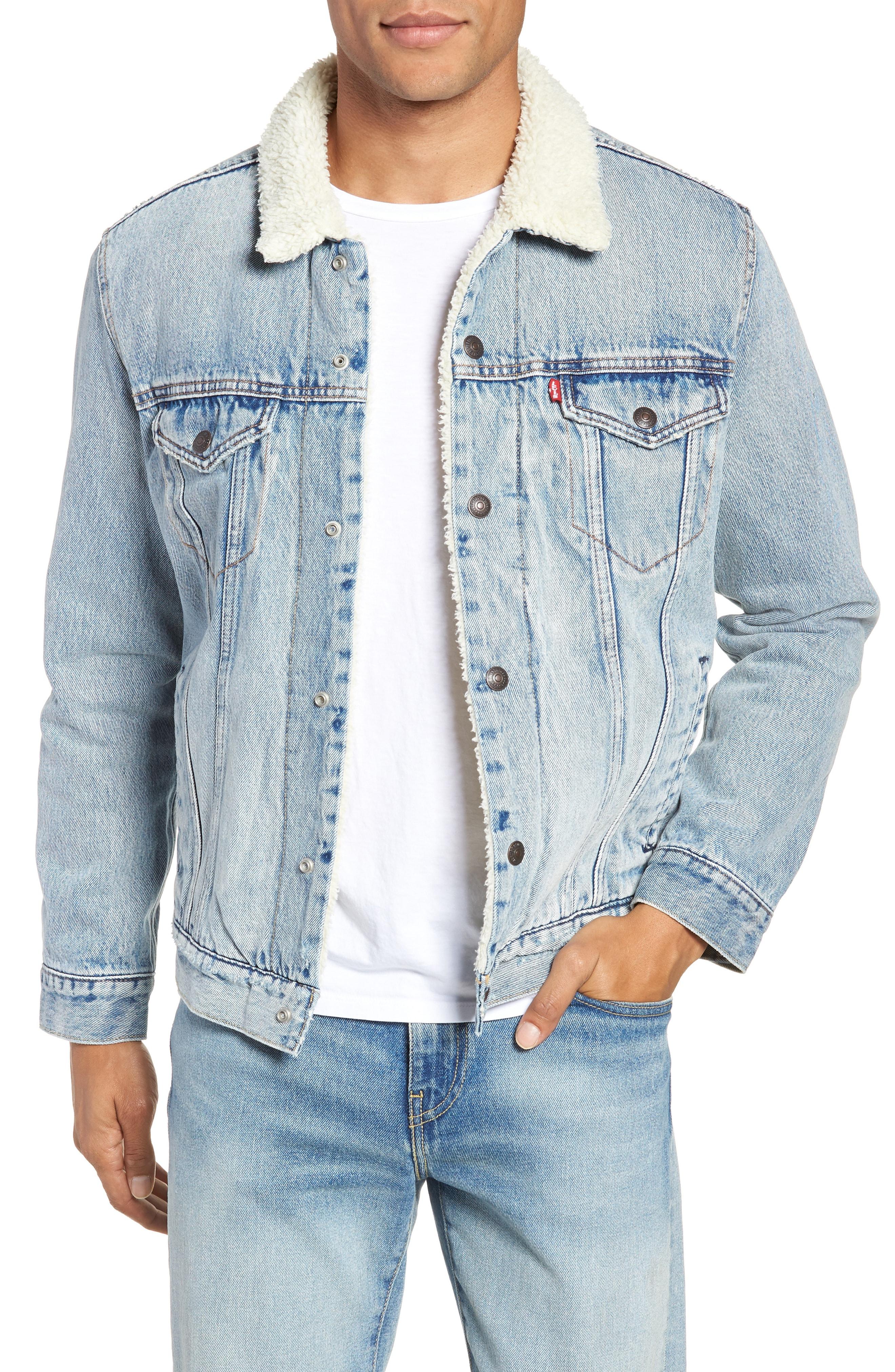 Men S Levi S Type 3 Faux Shearling Trucker Jacket Size X