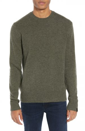 Men's Rag & Bone Haldon Regular Fit Cashmere Sweater, Size Small - Green