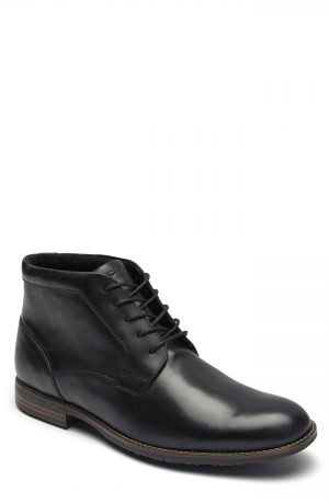 Men's Rockport Dustyn Waterproof Chukka Boot, Size 7 M - Black