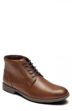 Men's Rockport Dustyn Waterproof Chukka Boot, Size 7.5 M - Brown