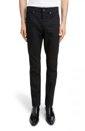 Men's Saint Laurent Skinny Fit Jeans, Size 30 - Black