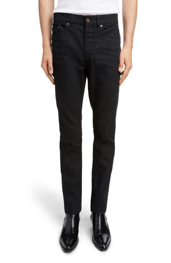 Men's Saint Laurent Skinny Fit Jeans, Size 30 - Black