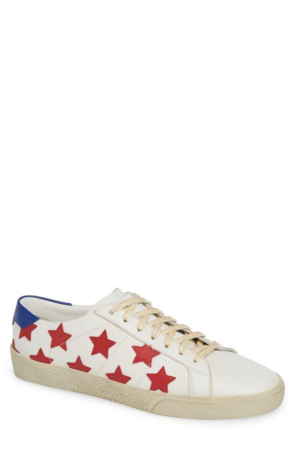 Men's Saint Laurent Star Low-Top Sneaker, Size 6US / 39EU - White