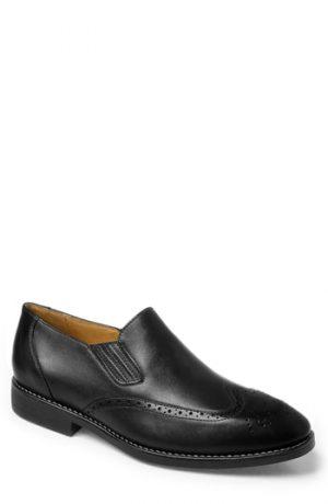 Men's Sandro Moscoloni Harris Wingtip Slip-On, Size 7.5 D - Black