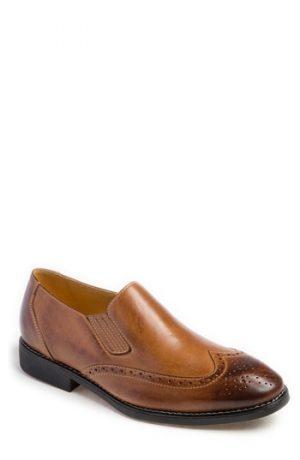 Men's Sandro Moscoloni Harris Wingtip Slip-On, Size 7.5 D - Brown
