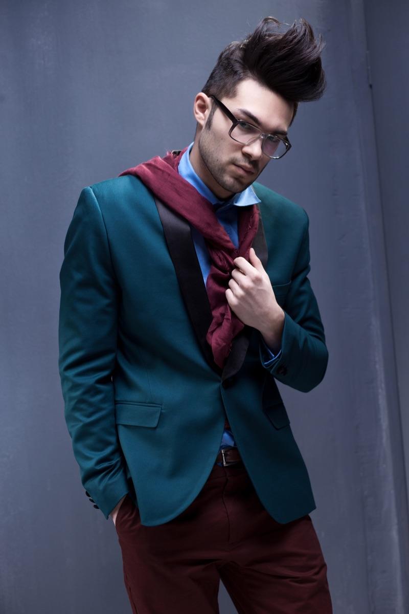 Men's Style Image Colorful Blazer