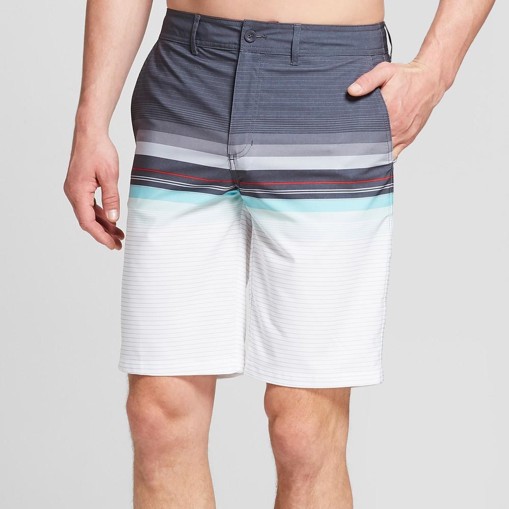 612987d006 Men's Striped 10.5 Contract Hybrid Swim Shorts – Goodfellow & Co Dark Grey  28, Gray | The Fashionisto