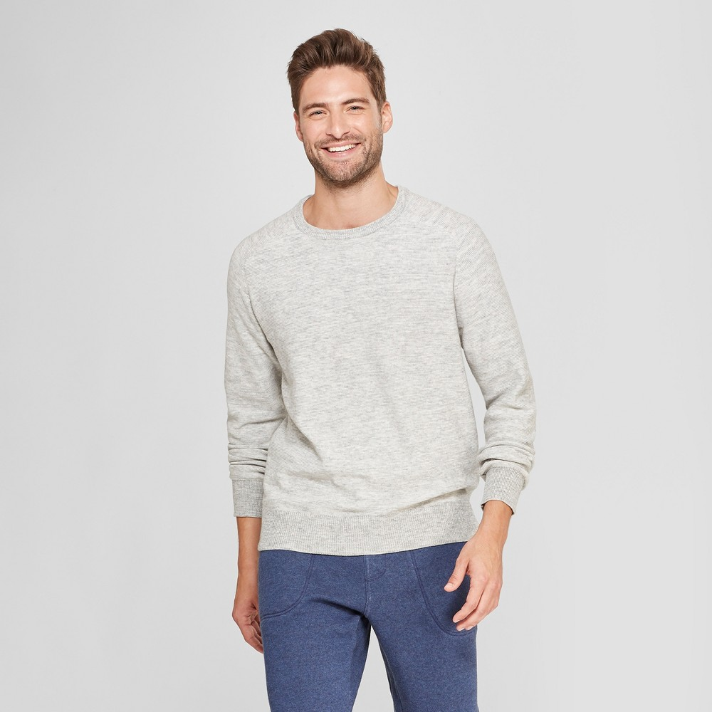 b86cc5c2ff Men's Striped Standard Fit Crew Neck Sweater – Goodfellow & Co Light Grey S,  Gray | The Fashionisto
