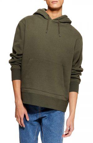Men's Topman Hoodie, Size X-Small - Green