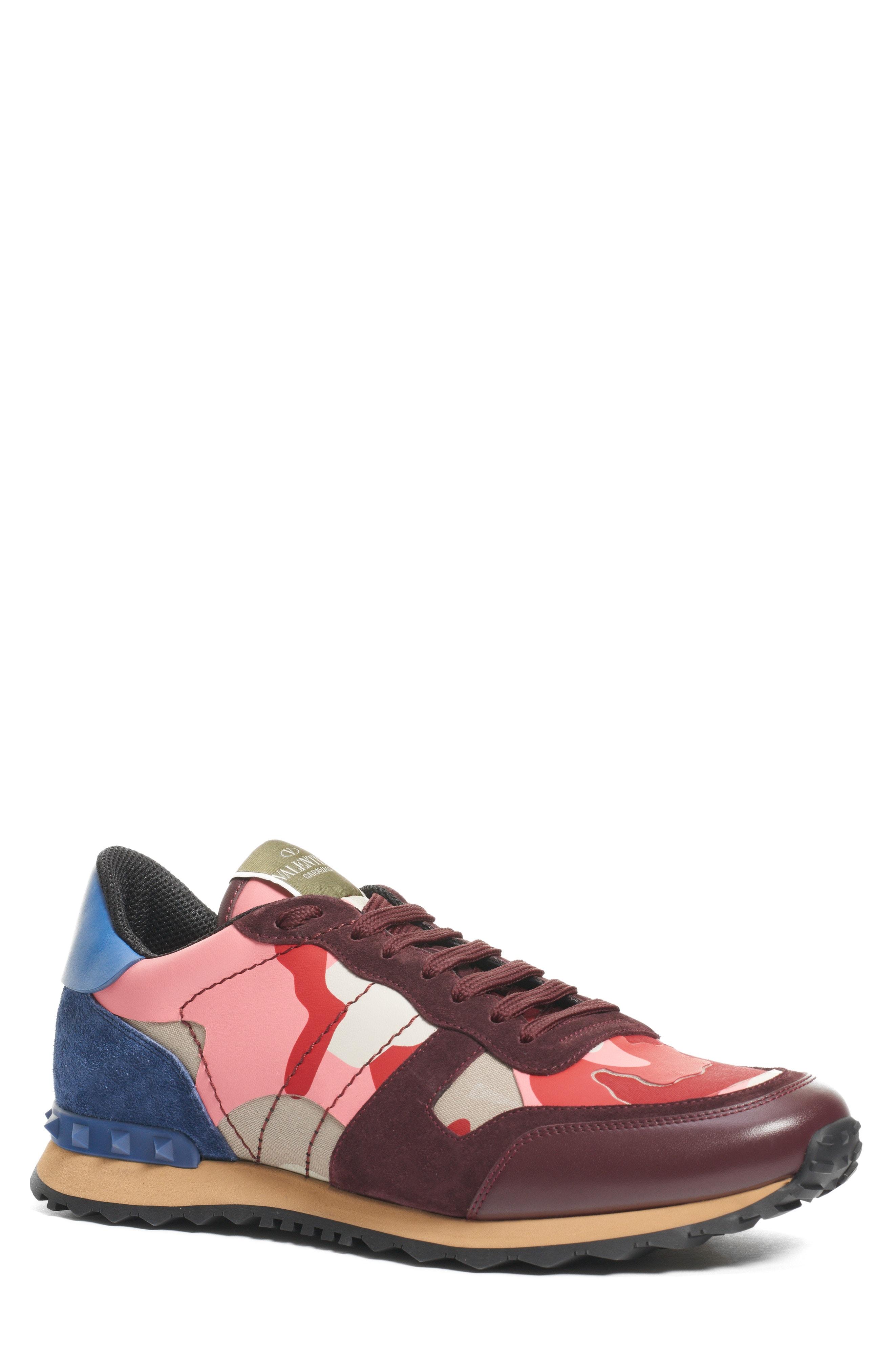 945a389ff125f Men's Valentino Garavani Camo Rockrunner Sneaker, Size 6US / 39EU – Red