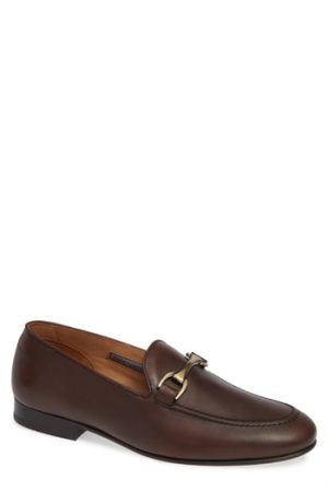Men's Vince Camuto 'Borcelo' Bit Loafer, Size 8 M - Brown