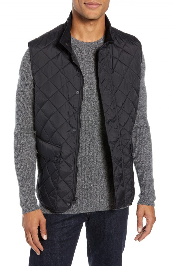 Men's Vince Camuto Diamond Quilted Vest, Size Small - Black