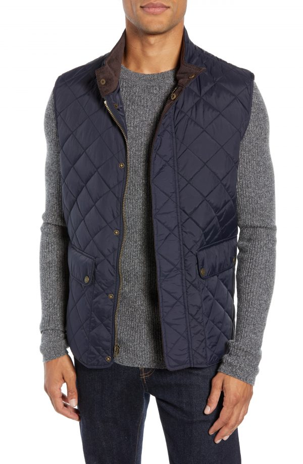 Men's Vince Camuto Diamond Quilted Vest, Size Small - Blue