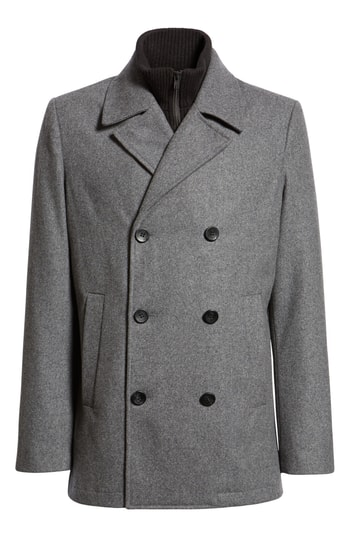 Men's Vince Camuto Dock Peacoat, Size Small - Grey