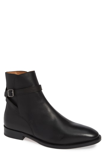 Men's Vince Camuto Hop Buckle Strap Boot, Size 8 M - Black