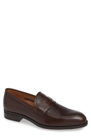 Men's Vince Camuto Iggi Penny Loafer, Size 8.5 M - Brown