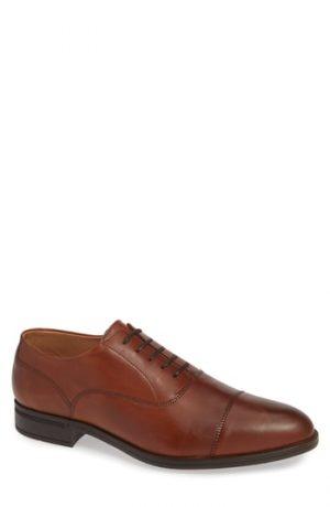 Men's Vince Camuto Iven Cap Toe Oxford, Size 8 M - Brown
