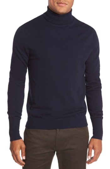 Men's Vince Camuto Merino Wool Turtleneck, Size X-Small - Blue