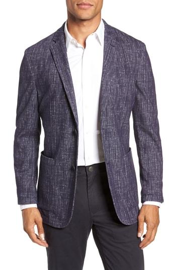 Men's Vince Camuto Mesh Pattern Slim Fit Sport Coat, Size X-Large - Blue