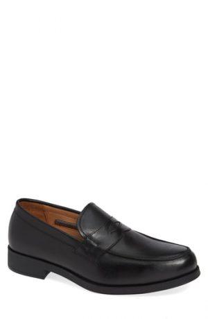 Men's Vince Camuto Nait Penny Loafer, Size 8 M - Black
