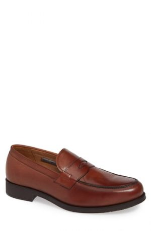 Men's Vince Camuto Nait Penny Loafer, Size 8 M - Brown