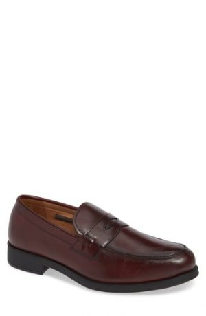Men's Vince Camuto Nait Penny Loafer, Size 8.5 M - Brown