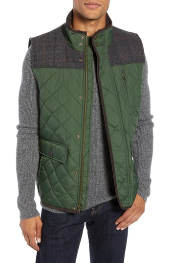 Men's Vince Camuto Quilted Vest, Size Small - Green