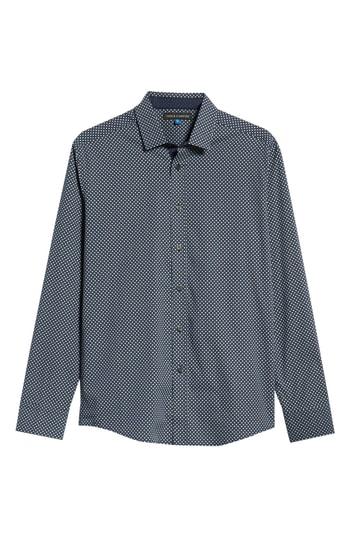 Men's Vince Camuto Regular Fit Geometric Dot Sport Shirt, Size Small - Blue