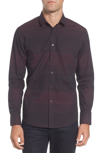 Men's Vince Camuto Slim Fit Check Plaid Sport Shirt