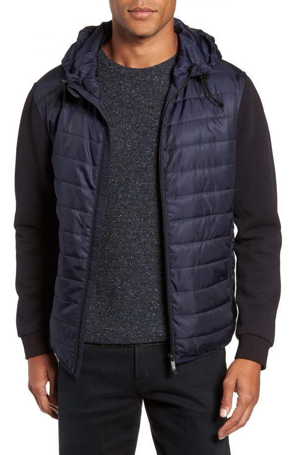 Men's Vince Camuto Slim Fit Quilted Performance Jacket, Size X-Small - Blue