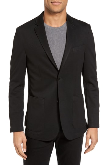 Men's Vince Camuto Slim Fit Stretch Knit Blazer, Size Medium L - Black