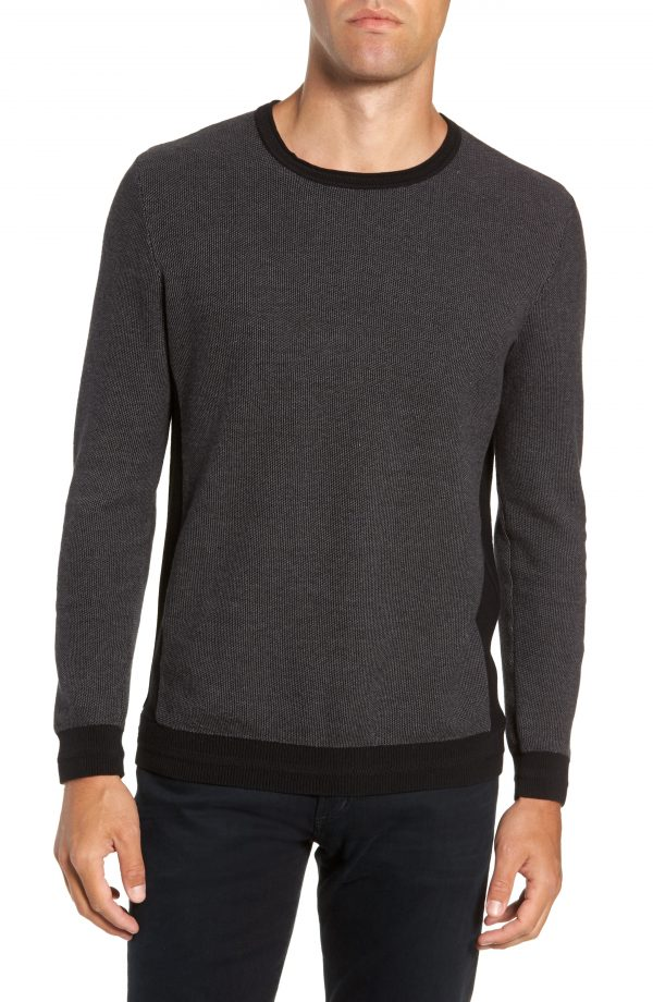 Men's Vince Camuto Space Dye Slim Fit Sweater, Size Small - Black