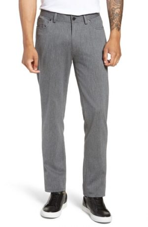 Men's Vince Camuto Straight Leg Five Pocket Stretch Pants, Size 28 x 32 - Grey