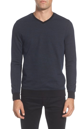 Men's Vince Camuto Trim Fit Melange Pullover