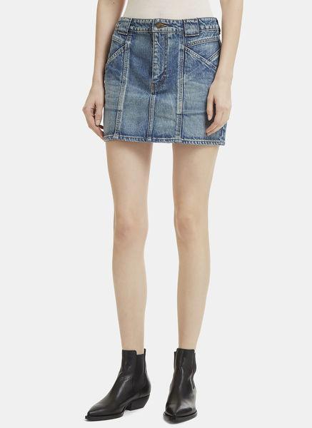 Mini Patchwork Denim Skirt