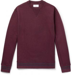 Mr P. - Loopback Cotton-Jersey Sweatshirt - Plum