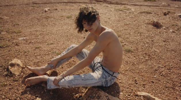 Diogo Guerreiro stars in Off-White's resort 2019 denim campaign.