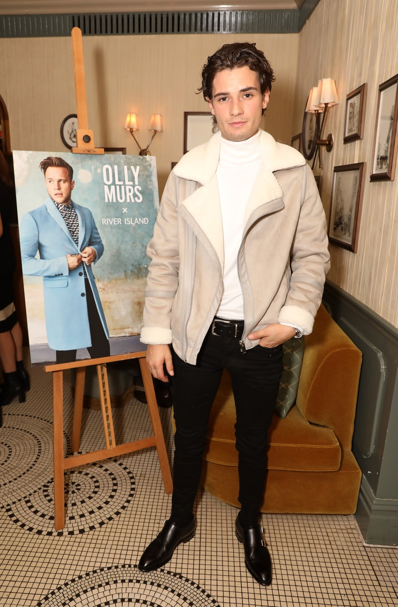 Jack Brett Anderson helps celebrate Olly Murs' new River Island collection.
