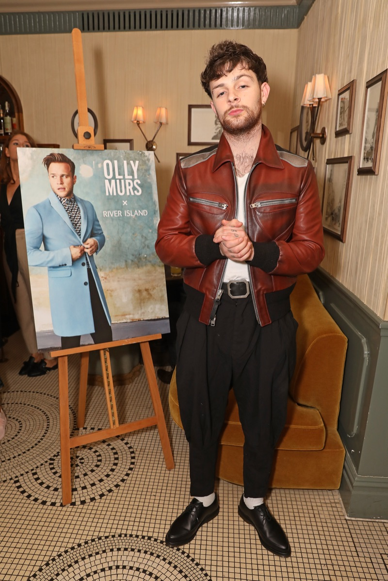 Tom Grennan is dressed to impress as he supports Olly Murs and his River Island collaboration.