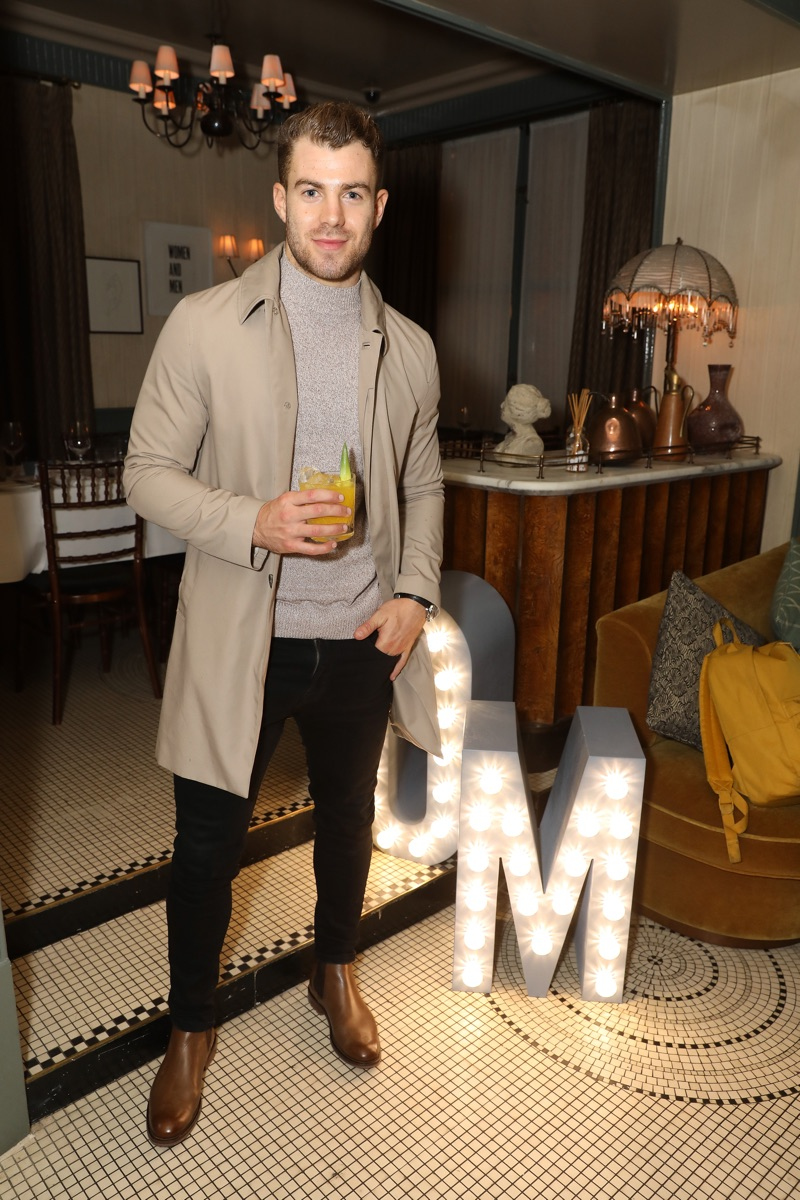 Bradley Simmonds pictured at Olly Murs' River Island dinner.