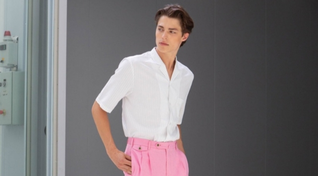 Brodie Scott Embraces Smart Style in PT01 Pantaloni Torino Spring '19 Collection