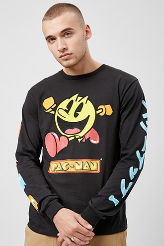 Pac-Man Graphic Tee by 21 MEN Black/multi