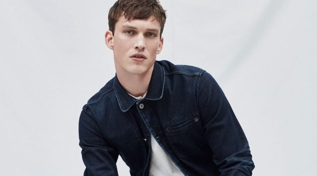 Malthe Lund Madsen doubles down on raw denim for a Pepe Jeans editorial.