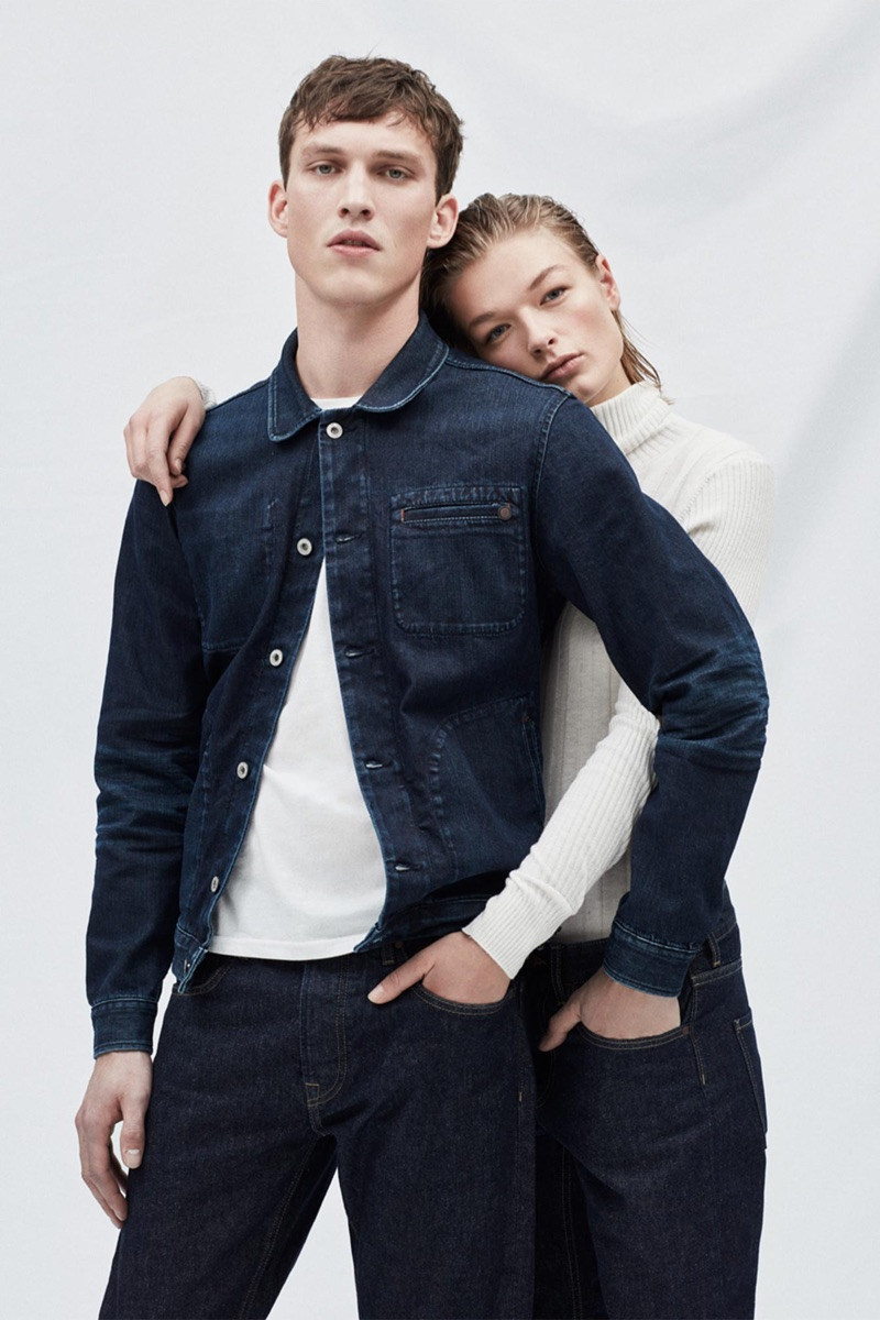Models Malthe Lund Madsen and Luna Schulze come together in denim for Pepe Jeans.