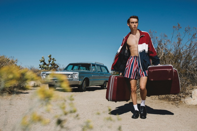 Cole Sprouse photographs Brandon Sharp in fashions from Primark's spring-summer 2019 collection.