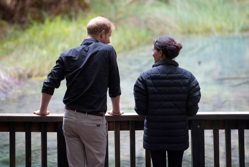 Taking in the sights of Rotorua, New Zealand, Prince Harry, Duke of Sussex and Meghan, Duchess of Sussex enjoy their time together.