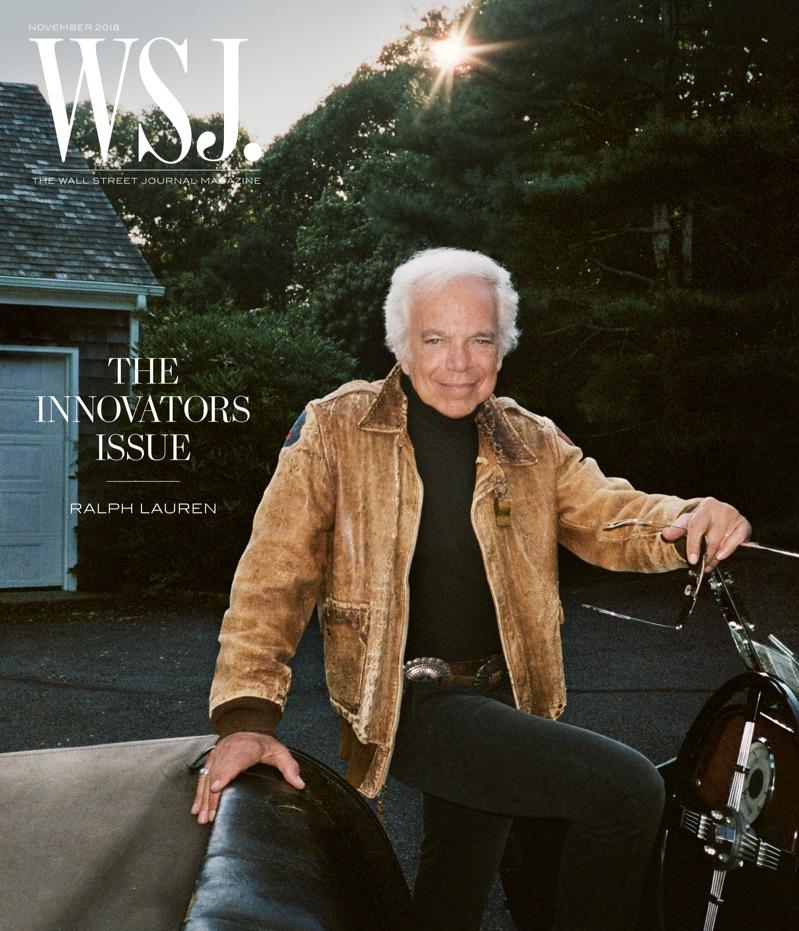 Ralph Lauren covers the November 2018 issue of WSJ. magazine.