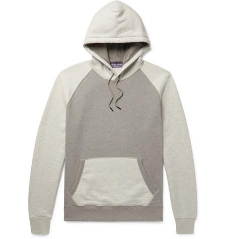 63e12a8b235f ... real ralph lauren purple label colour block fleece back cotton blend  jersey hoodie 85275 2f7aa