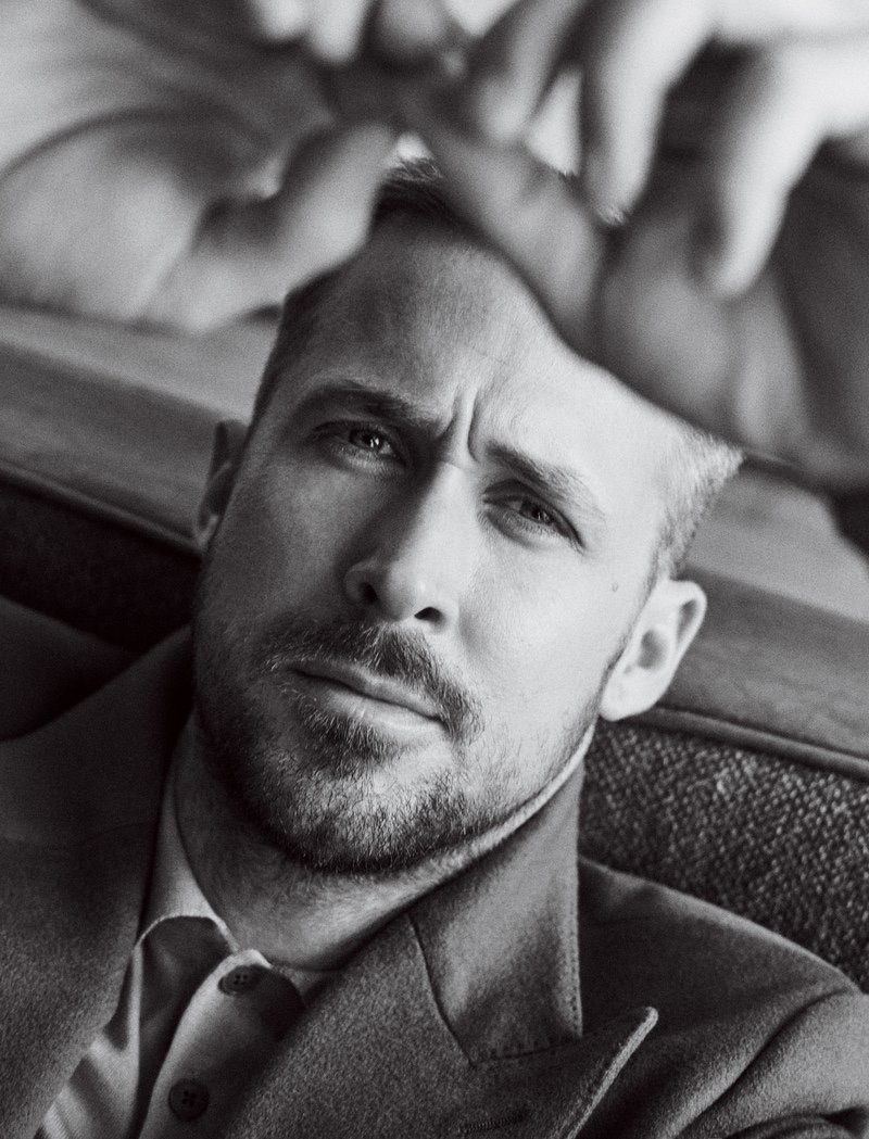 Ready for his close-up, Ryan Gosling wears a Brunello Cucinelli blazer with an Ermenegildo Zegna jacket.