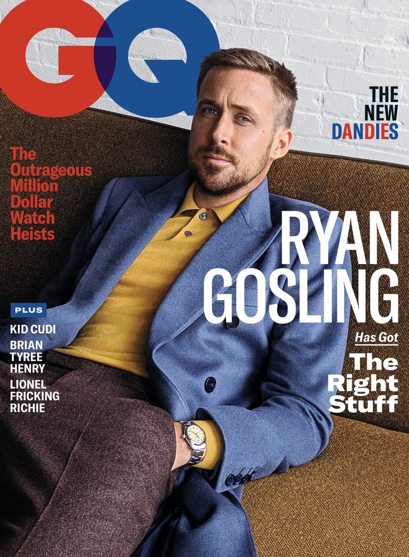 Ryan Gosling covers the November 2018 issue of GQ.